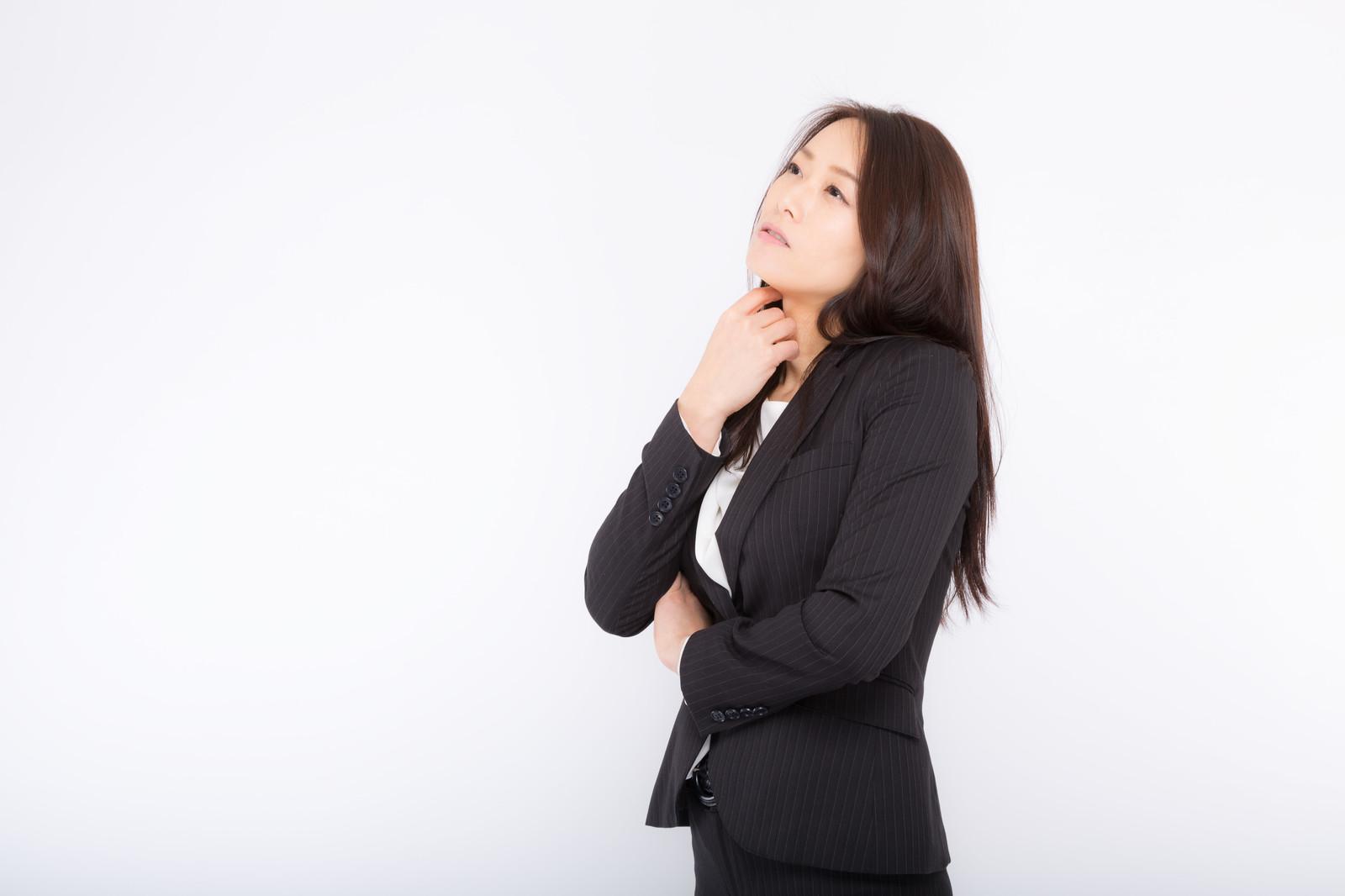 転職の最悪のシナリオを考える女性
